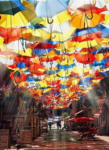 Umbrellas Street, Portugal. | Get Out of Provo | Pinterest ...