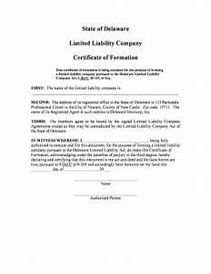 Fillable online state of delaware limited liability for Delaware llc formation documents