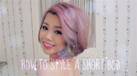 HOW TO STYLE A SHORT BOB   YouTube