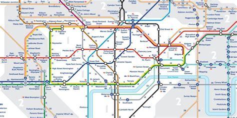 tube map reveals walking distances