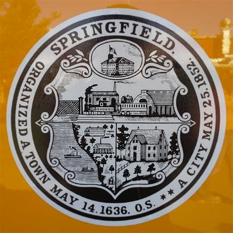 Springfield, MA town seal on the side of a public works tr ...