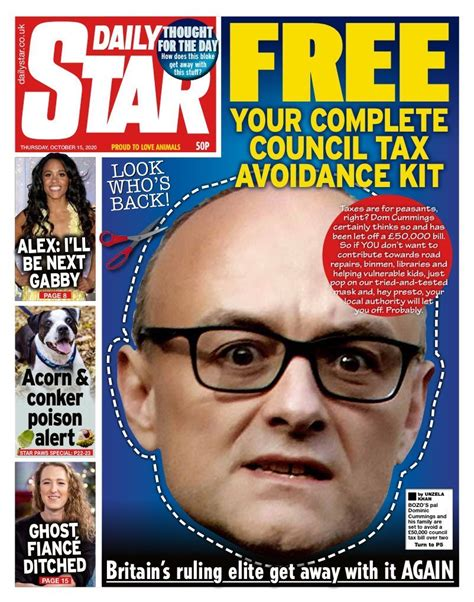 Whoever did today's Daily Star front page, take the rest ...