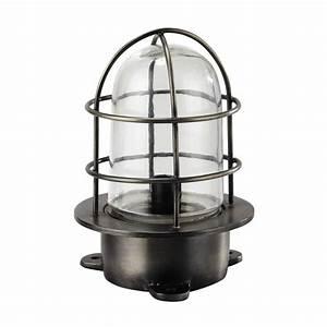 Lampe Metall Schwarz : lampe docker aus metall h 23 cm schwarz maisons du monde ~ Articles-book.com Haus und Dekorationen