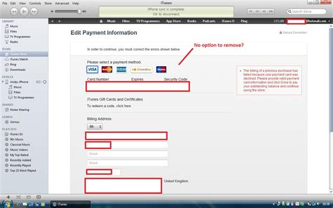 how to remove itunes account from iphone how do i remove a credit card from itunes