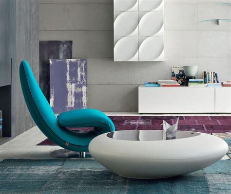 chaise longue casa poltrona il ricciolo di tonin casa in pelle ecopelle o