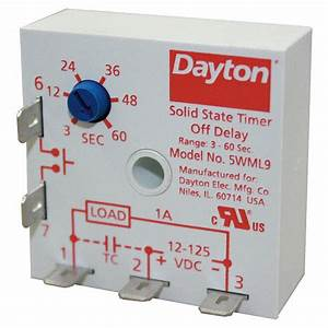 Dayton Encapsulated Timer Relay  Function  Off Delay