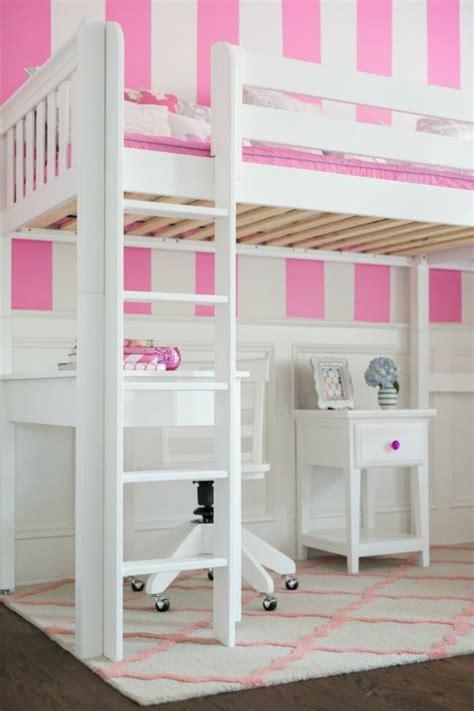 lit mezzanine fille avec bureau lit en hauteur avec bureau intégré les atouts