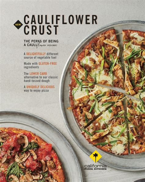 cuisine of california california pizza kitchen is rolling out cauliflower pizza