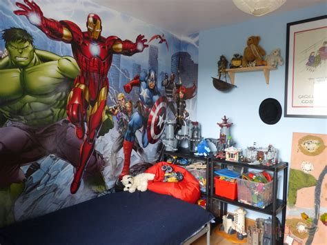 wallpaper for boys nursery dulux marvel bedroom in a box officially awesome