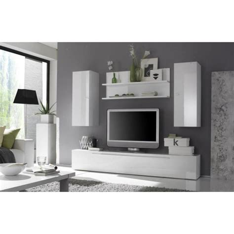 meuble cuisine blanc laqué ensemble télé moderne blanc quot juno quot meuble house achat