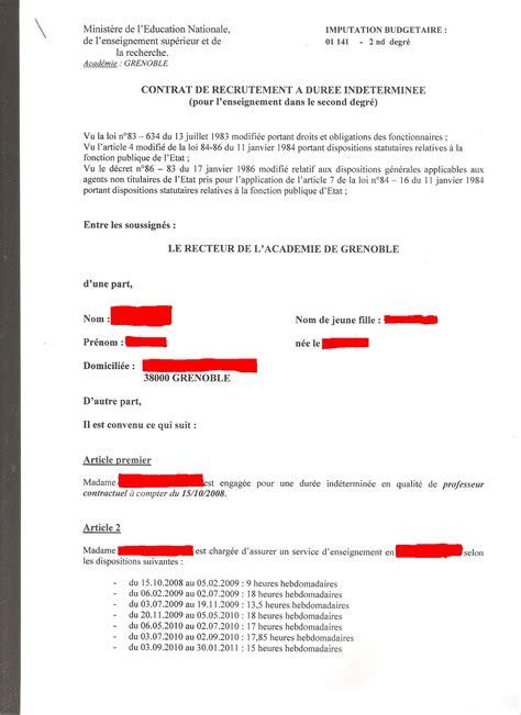 contrat de travail cadre cdi exemple de cdi