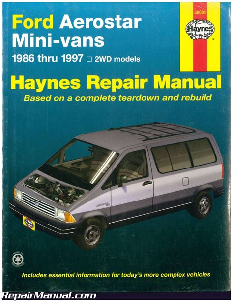 what is the best auto repair manual 1986 ford ltd security system haynes ford aerostar mini vans 1986 1997 auto repair manual