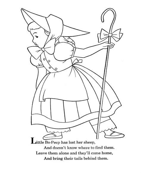 Little Bo Peep Coloring Pages - Eskayalitim