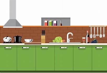 Kitchen Cartoon Cuisine Transparent Clipart Clip Tub