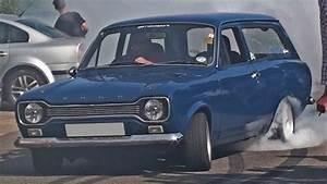 Cosworth Turbo Ford Escort Mk1 Estate Burnout
