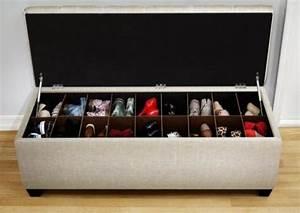 Banc Range Chaussures : 49 id es astuces pour le rangement des chaussures ~ Teatrodelosmanantiales.com Idées de Décoration