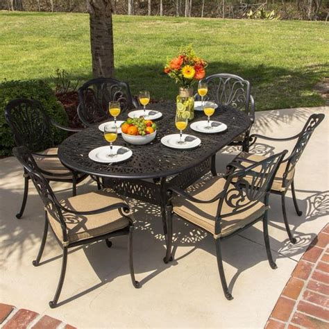 overstock outdoor patio furniture lakeview outdoor designs rosedown cast aluminum 6 person