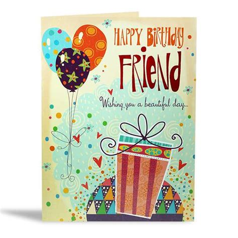 Share an animated birthday ecard or a cute and funny ecard with your family and friends, it's easy. Buy Happy Birthday My Friend Card Online at Best Price in India - archiesonline.com