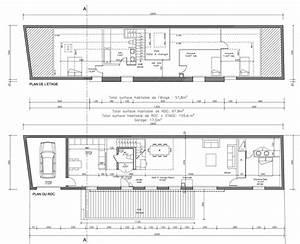 plan de maison en longueur vue de nuit la rsidence claire With plan maison en longueur
