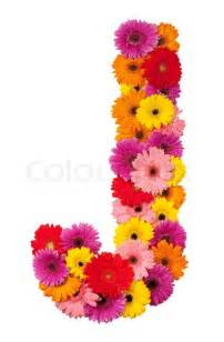 Alphabet Letter J with Flowers