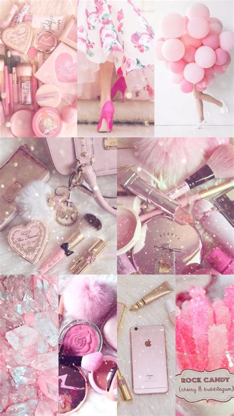 Asthetic Iphone Lock Screen Girly Gold Wallpaper by It Pink Vibes Pink Aesthetic Pink Wallpaper