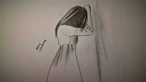 sad girl drawing youtube