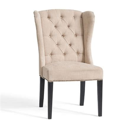 thayer tufted wingback chair pottery barn