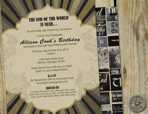 Items similar to End of the World Birthday Party