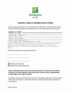 Blank Credit Card Authorization Form Template Download Holiday Inn Credit Card Authorization Form