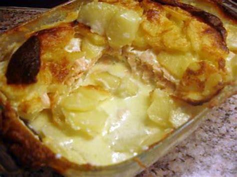 recette de gratin de pommes de terre au deux saumons
