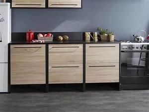 Meuble Bas Cuisine Pas Cher : meuble bas cuisine en bois cuisine en image ~ Teatrodelosmanantiales.com Idées de Décoration