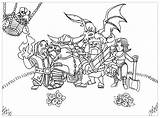 Clash Clans Coloring Pages Characters Printable sketch template