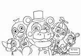 Coloring Fnaf Pages Freddy Nights Five Golden Freddys Cartoons Getdrawings sketch template