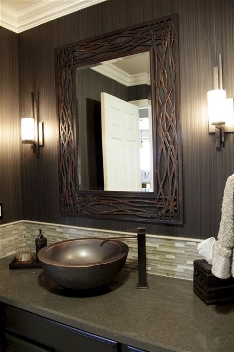 Candice Olson Living Room Designs by Contemporary Powder Room