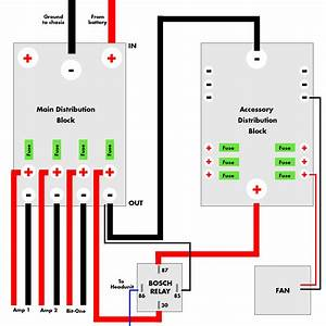 Wiring A Relay With 2 Distribution Blocks  Pic Included