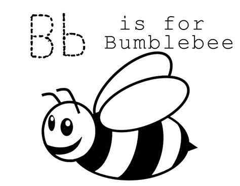 printable bumble bee coloring pages  kids