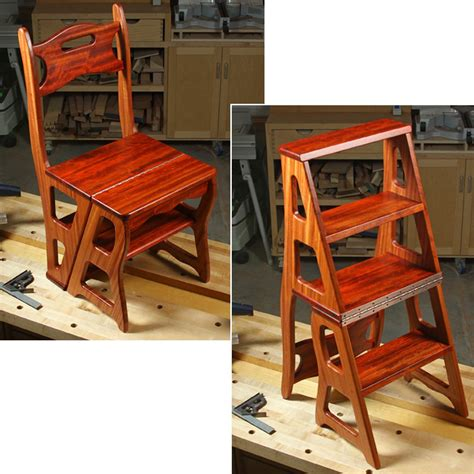 woodworkers journal convertible step stool chair plan