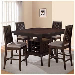 Big Lots Kitchen Furniture 5 Pub Set With Wine Rack Big Lots