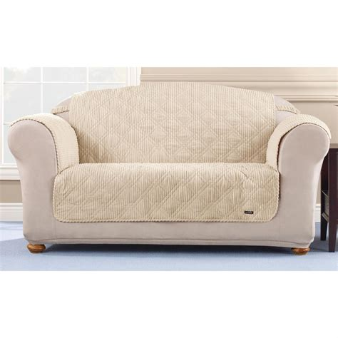 sure fit furniture covers sure fit quilted corduroy loveseat pet cover 292845