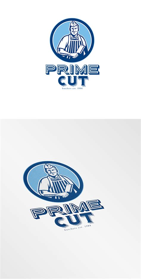 butcher template joomla prime cut butcher logo logo templates on creative market