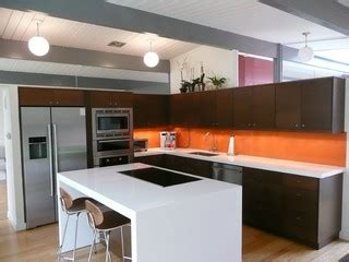 paint for kitchen cabinets eichler kitchen remodel with painted glass backsplash 3928