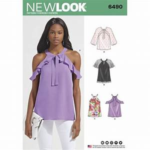 New Look Pattern 6490 Misses' Blouses with Sleeve Variations