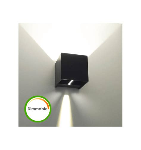 black dimmable led wall l cubic kosilight uk
