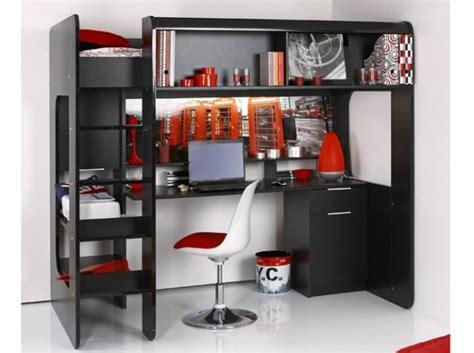 lit superposé avec bureau intégré lit mezzanine bureau integre lit mezzanine
