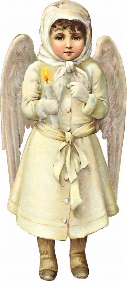 Victorian Christmas Angel Clipart Angels Snow Antique