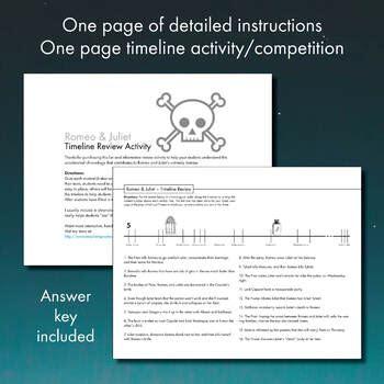 romeo  juliet timeline review worksheet