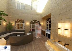 Converting a house of character courtyard into a for Interior design malta house of character