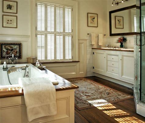 beautiful master bathrooms  wood floors