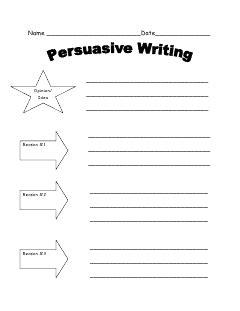 dishing     graphic organizer persuasive writing