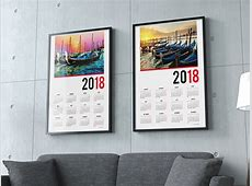 2018 calendar one page template yearly printable poster